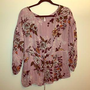 Super cute lace up blouse